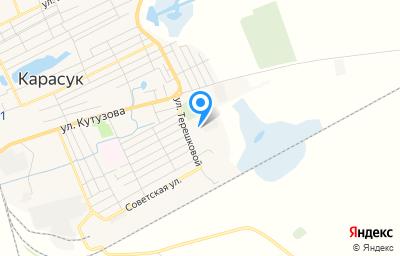 Местоположение на карте пункта техосмотра по адресу Новосибирская обл, г Карасук, ул Ландика, зд 56Б