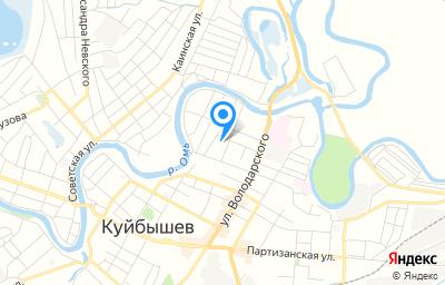 Местоположение на карте пункта техосмотра по адресу Новосибирская обл, Куйбышевский р-н, г Куйбышев, ул Энгельса, д 58