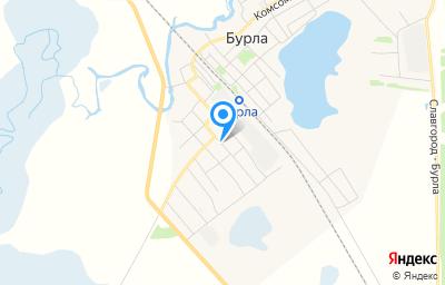 Местоположение на карте пункта техосмотра по адресу Алтайский край, с Бурла, ул Октябрьская, д 21А