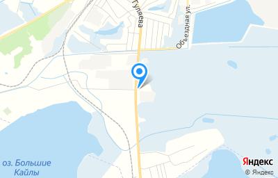 Местоположение на карте пункта техосмотра по адресу Новосибирская обл, Куйбышевский р-н, г Куйбышев, ул Гуляева, д 74