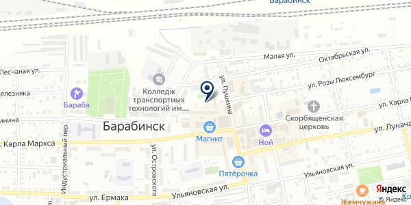 СЕРВИСНАЯ СЛУЖБА ТОРГТЕХНИКА на карте Барабинске