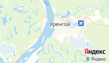 Отели города Уренгой на карте