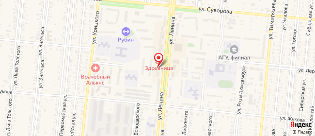 Карта расположения пункта доставки Westfalika в городе Славгород