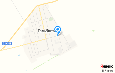 Местоположение на карте пункта техосмотра по адресу Алтайский край, с Гальбштадт, ул Восточная, д 7Е