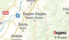 Отели города Баден-Баден на карте