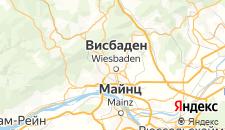 Отели города Висбаден на карте