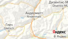 Отели города Андерматт на карте