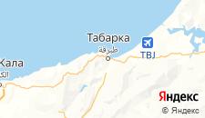 Отели города Табарка на карте