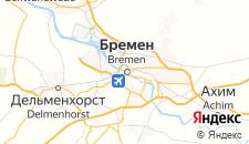 Отели города Бремен на карте
