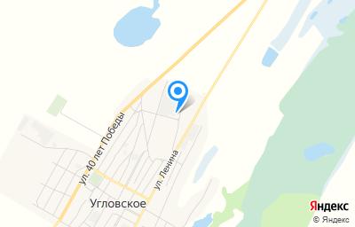 Местоположение на карте пункта техосмотра по адресу Алтайский край, с Угловское, ул Ленина, д 113А