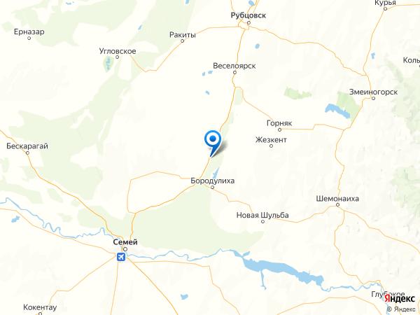 село Боровое на карте