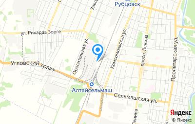 Местоположение на карте пункта техосмотра по адресу Алтайский край, г Рубцовск, проезд Кооперативный, д 4