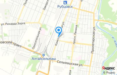 Местоположение на карте пункта техосмотра по адресу Алтайский край, г Рубцовск, ул Комсомольская, д 317
