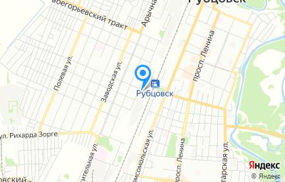 Местоположение на карте пункта техосмотра по адресу Алтайский край, г Рубцовск, ул Путевая, д 45