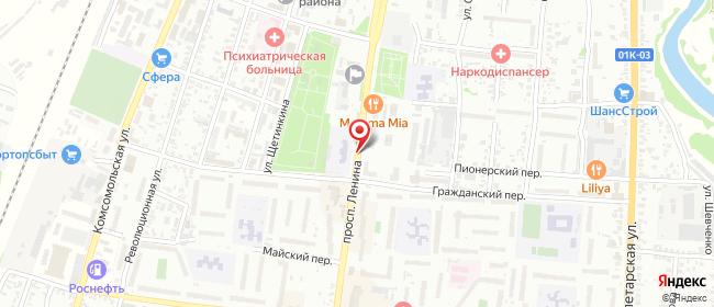 Карта расположения пункта доставки Siberian Wellness в городе Рубцовск