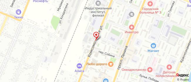 Карта расположения пункта доставки DPD Pickup в городе Рубцовск