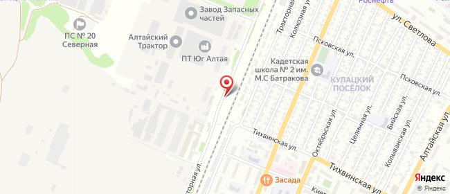 Карта расположения пункта доставки Westfalika в городе Рубцовск