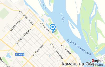Местоположение на карте пункта техосмотра по адресу Алтайский край, г Камень-на-Оби, ул Ленина, д 152