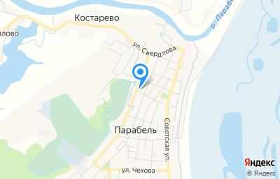 Местоположение на карте пункта техосмотра по адресу Томская обл, с Парабель, пер Кооперативный, д 18