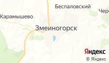 Отели города Змеиногорск на карте