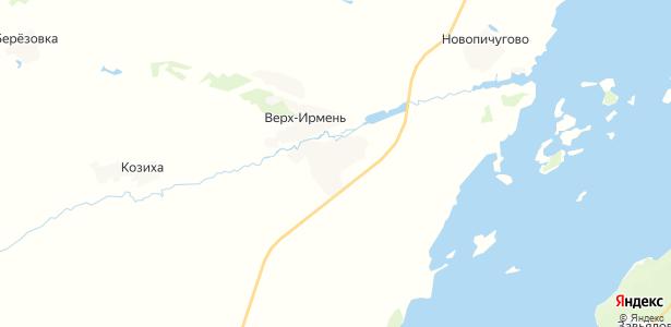 Верх-Ирмень на карте