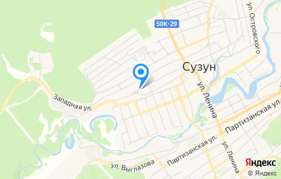 Местоположение на карте пункта техосмотра по адресу Новосибирская обл, рп Сузун, ул Северная, д 107