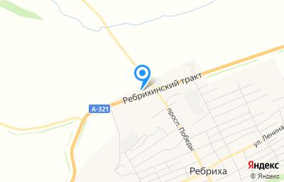 Местоположение на карте пункта техосмотра по адресу Алтайский край, с Ребриха, пр-кт Победы, д 1Б