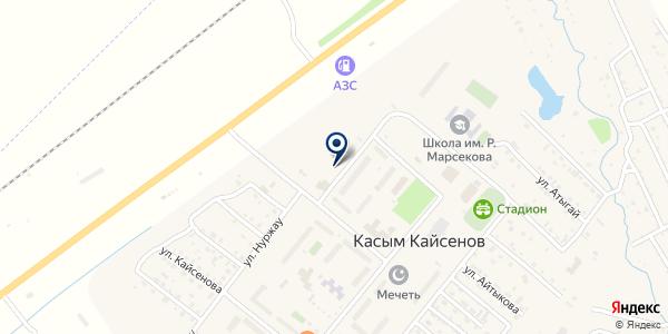 Станция технического осмотра транспорта на карте Касыме Кайсеновой