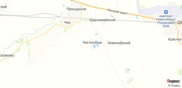 Чистополье на карте