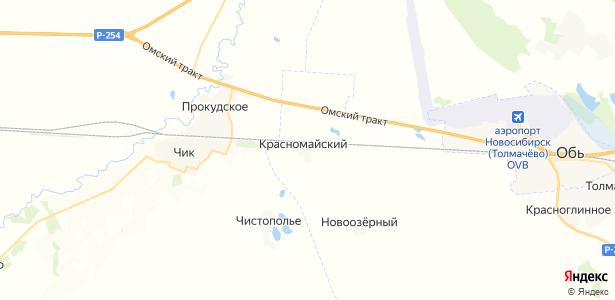 Красномайский на карте