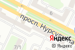Схема проезда до компании OXFORD TEAM в Усть-Каменогорске