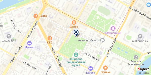 Столовая на карте Усть-Каменогорске