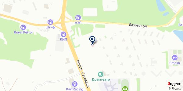 Восточно-Казахстанский областной реабилитационный центр на карте Усть-Каменогорске