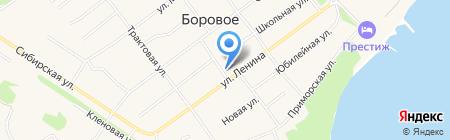 Парикмахерская на ул. Ленина на карте Борового