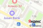 Схема проезда до компании РЕКЛАМАСЕРВИСМОНТАЖ в Усть-Каменогорске