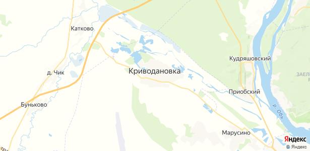Криводановка на карте