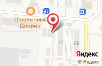 Схема проезда до компании Продуктовый магазин в Оби