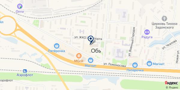 Сервис-ателье на карте Оби