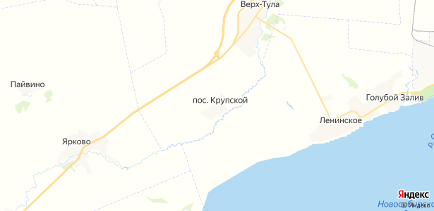 Крупской на карте