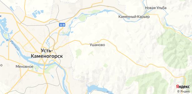 Ушановский на карте