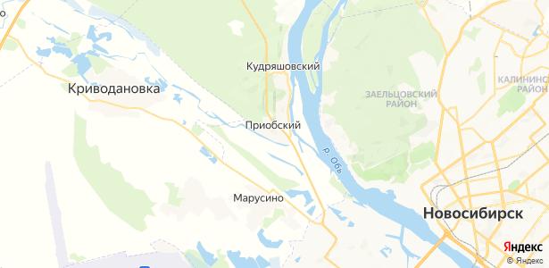 Приобский на карте
