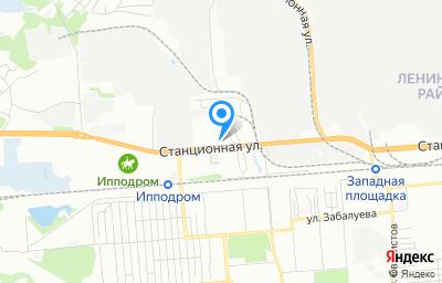 Местоположение на карте пункта техосмотра по адресу г Новосибирск, ул Станционная, д 76А