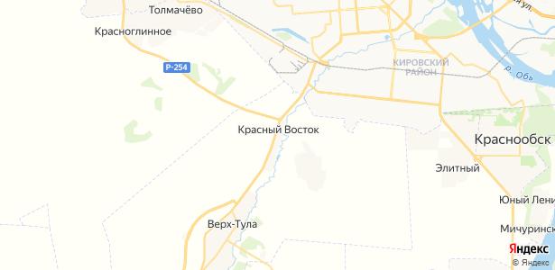 Красный Восток на карте