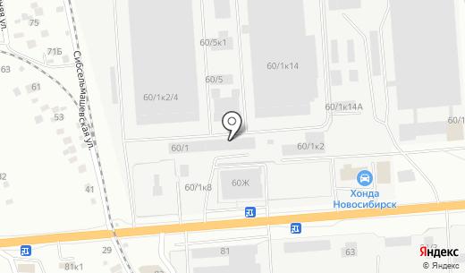 КЭТ-Клин. Схема проезда в Новосибирске