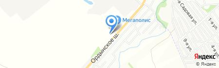 Ависта на карте Новосибирска