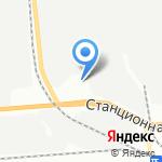 Сибирская Колесница на карте Новосибирска