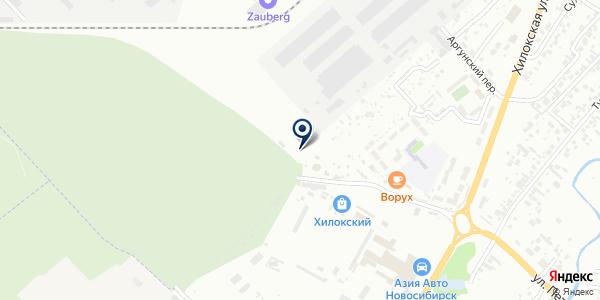 Служба благоустройства на карте Новосибирске