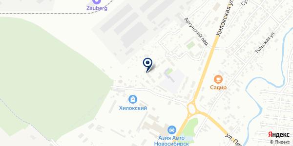 Левобережное похоронное бюро на карте Новосибирске