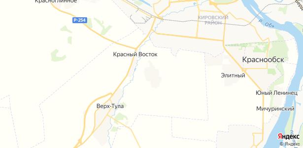 Тулинский на карте