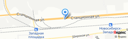 Шиномонтажная мастерская на Станционной на карте Новосибирска